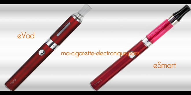 Comparatif cigarette electronique eVod Vs eSmart