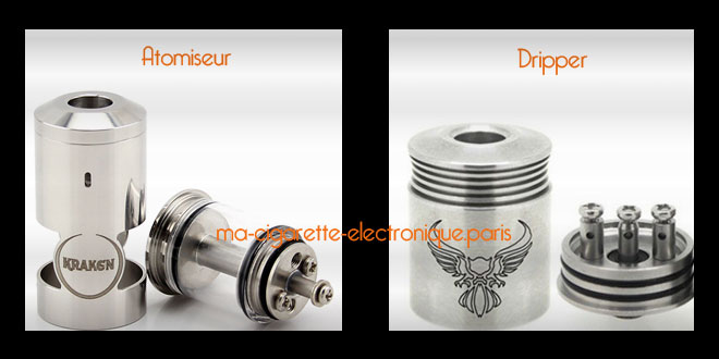 Atomiseur reconstructible Vs Dripper
